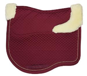 Estate-Fleece-Dressage-Saddle-Pad-Claret