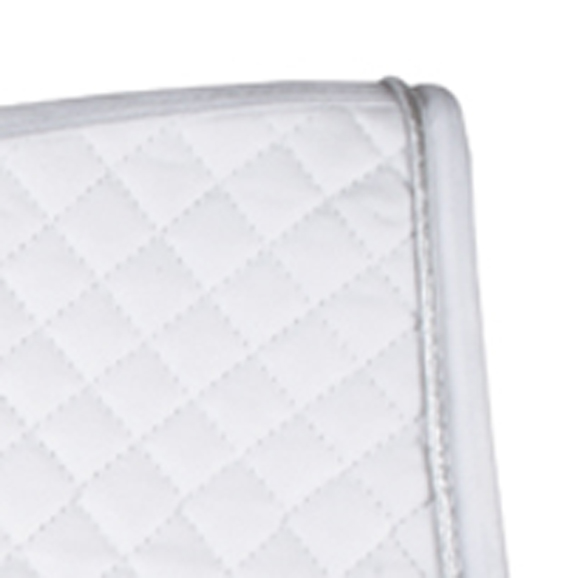 HKM_Saddlecloth_Small_Quilt_White_Silver